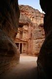 усыпальница petra Иордана nabatean Стоковое Изображение