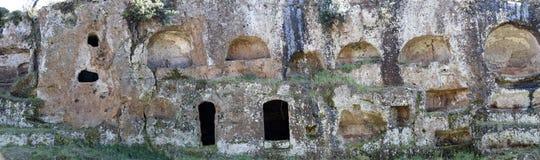 Усыпальницы Etruscan Стоковые Изображения