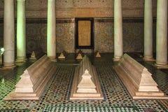 Усыпальницы Saadian marrakesh Марокко стоковые изображения