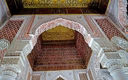 Усыпальницы Sadiane в Marrakesh Стоковое Изображение RF