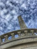 Усыпальница Линкольна под облаками Стоковые Изображения
