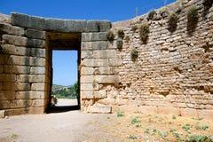 Усыпальница льва, Mycenae стоковое изображение rf
