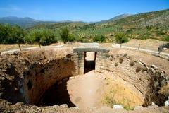 Усыпальница льва, Mycenae стоковая фотография