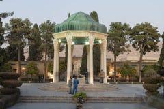 Усыпальница Hafez после наступления темноты Стоковое фото RF