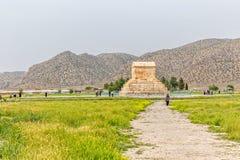 Усыпальница Pasargad большая Cyrus Стоковая Фотография RF