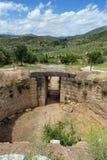Усыпальница Tholos льва, Mycenae, Греция стоковое изображение rf
