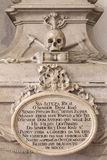 Усыпальница XVIII века Dom Антонио Стоковые Фото