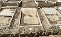 Усыпальницы в кладбище Стоковое Фото