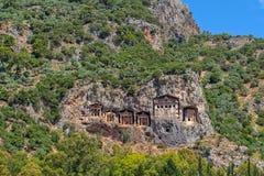 Усыпальницы королей Lycian Стоковая Фотография RF