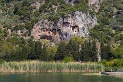 Усыпальницы королей Lycian Стоковая Фотография