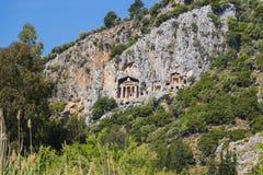Усыпальницы королей Lycian Стоковые Фотографии RF