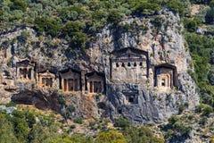 Усыпальницы королей Lycian Стоковое Изображение RF