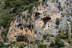 Усыпальницы королей Lycian Стоковые Изображения