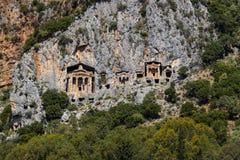Усыпальницы королей Lycian Стоковое Изображение