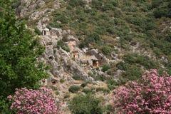 Усыпальницы Lycian стоковая фотография rf