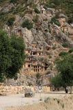 Усыпальницы Lycian стоковые фотографии rf