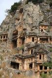 Усыпальницы Lycian стоковое изображение rf