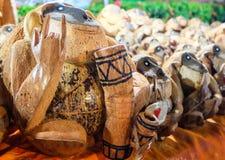Услышанная раковина кокоса обезьяны с влюбленностью и Стоковое фото RF