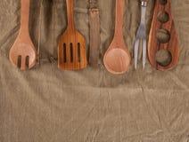 утвари деревянные Стоковое Изображение
