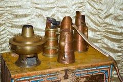 Утвари деталей старые монгольские домашние Стоковая Фотография RF