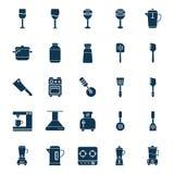 Утвари кухни изолировали набор значка вектора можно легко доработать или редактировать набор значка вектора кухни изолированный у бесплатная иллюстрация