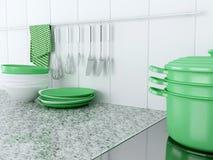Утвари кухни на worktop Стоковые Фотографии RF