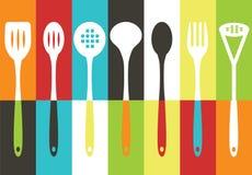 утвари кухни установленные Стоковое фото RF