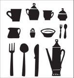 утвари кухни установленные Стоковые Изображения RF
