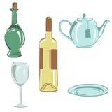 утвари кухни установленные иллюстрация вектора