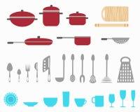 утвари кухни иллюстрация вектора