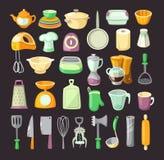 утвари поддержки кухни формы утки славные иллюстрация штока