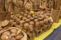 Утвари сделанные из древесины, ложки кухни, вилки, шпатели, gastrono Стоковое Изображение RF