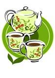 Утвари чая Стоковые Изображения RF