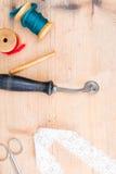 Утвари Sweing Стоковые Фотографии RF