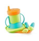 утварь бутылки младенца покрашенная multi Стоковые Фотографии RF