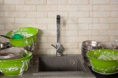 Утварям кухни нужно мытье Стоковое Изображение RF