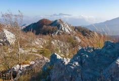 Утесистая местность Черногория Стоковые Фото
