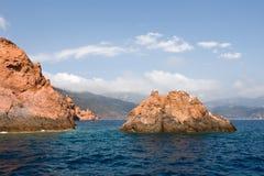 утесистое свободного полета среднеземноморское стоковое фото rf