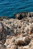 Утесистый берег моря Стоковая Фотография RF