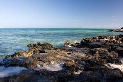 утесистый берег Стоковая Фотография RF