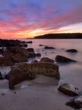 Утесистый восход солнца Стоковое фото RF