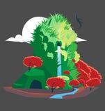 Утесистый остров бесплатная иллюстрация