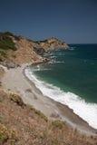 Утесистый пляж, Skiathios стоковые фотографии rf