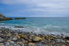 Утесистый пляж Стоковая Фотография RF