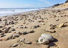 Утесистый пляж Стоковое Изображение