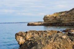 утесистый seacoast Стоковое Фото