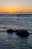 утесистый seascape Состав природы Стоковые Изображения RF