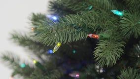 Утеска и собрание рождественской елки регулируя света сток-видео