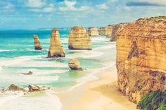 12 утесов апостолов на большой дороге океана, Австралии Стоковая Фотография