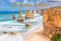 12 утесов апостолов на большой дороге океана, Австралии Стоковая Фотография RF